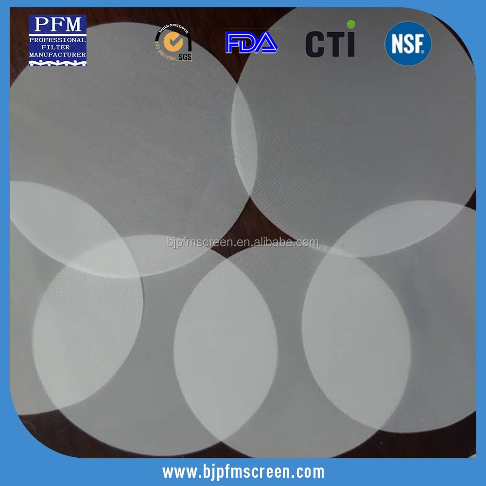 polyester plain mesh nylon fiber filter