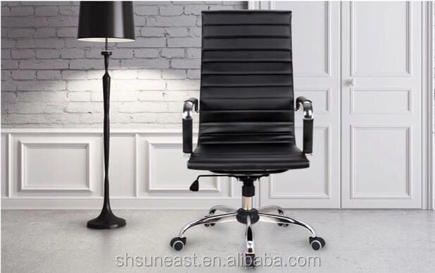 High back executive aluminium emes office chair with castor