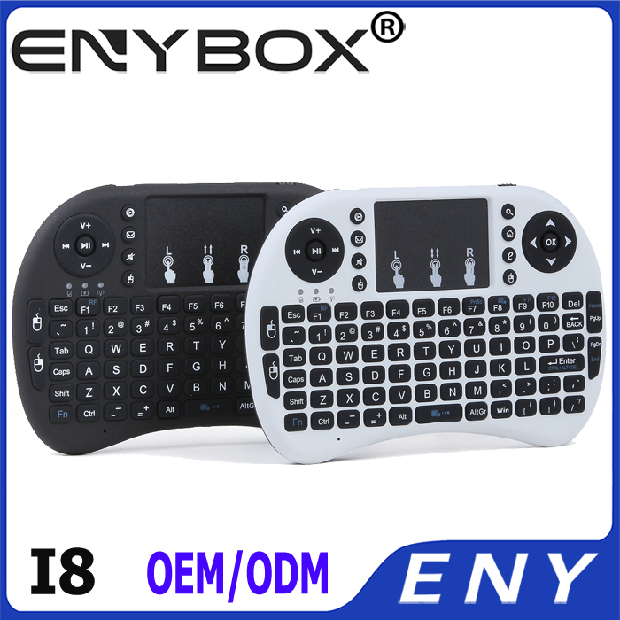 Upgrade Version Rii i8 Wireless 2.4G Mini Keyboard for Google Android Devices with Multi-touch up to 10 Meters