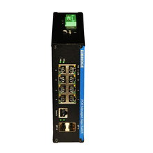 8 Port Din-rail 10/100 Base Self-apdating Managed Industrial Ethernet Switch with 2 gigabit SFP ports