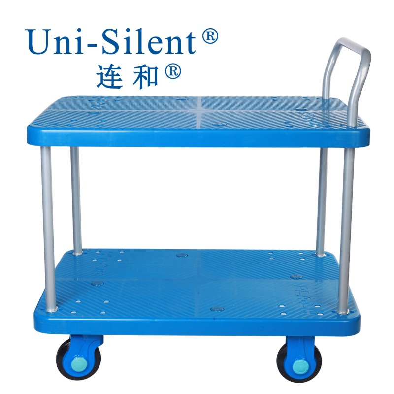 Plastic Cart and Mute Hand Truck Used for Library and Market