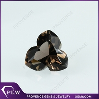 Wholesale Price Flower Shape Smoked Topaz Crystal Gems of Glass stones