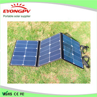120W 18V Portable fabric solar panel charger solar kit