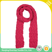 Wholesale winter product type customized high quality solid color knit women fashionable scarf