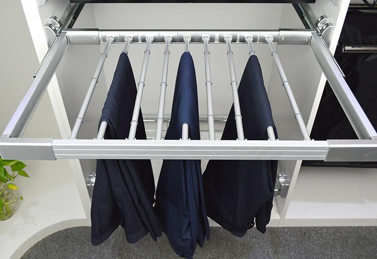 hot sale wardrobe clothes hanger rack pull out sliding. Black Bedroom Furniture Sets. Home Design Ideas