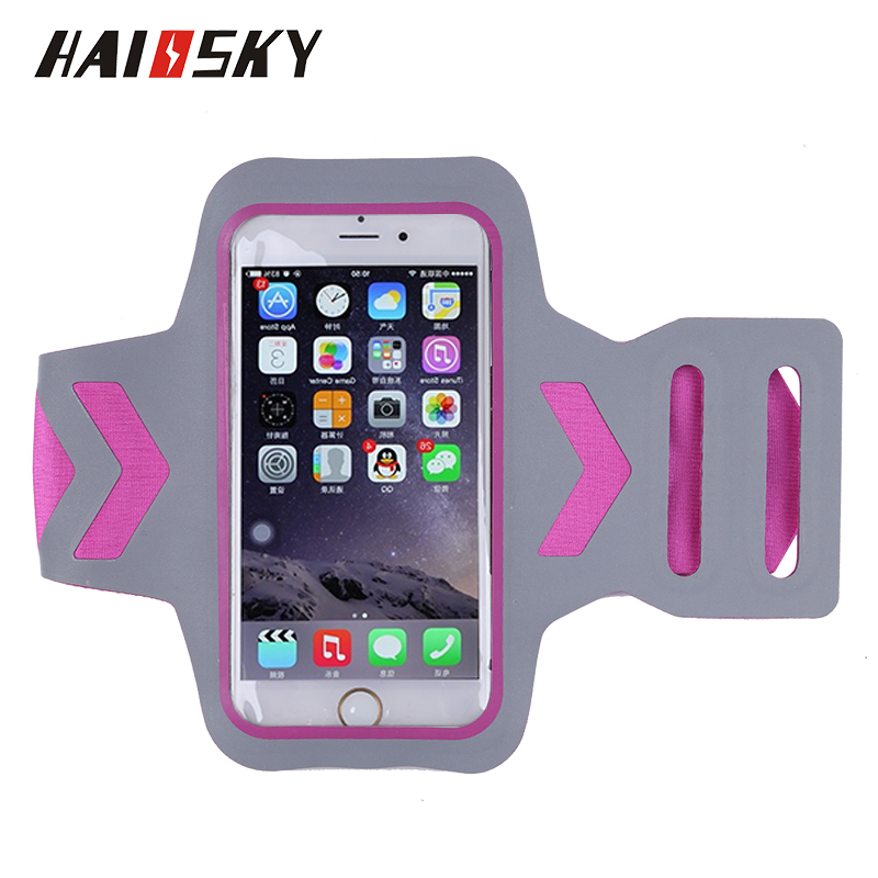 Haissky high quality cellphone armband,mobile arm band case accessories,running sport armband