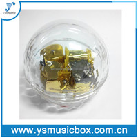 Clear decoration piano music box shaped wedding favors music box