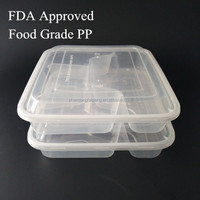 4 compartment clear disposable restaurant Disposable Takeout Packaging Use For Hot Food