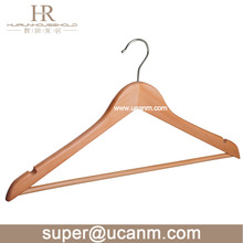 Promotion Dress Notches Natural Wood Hangers for Clothes