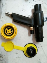 PE bleeding air valves and inflatable gun for inflatable dunnage bag