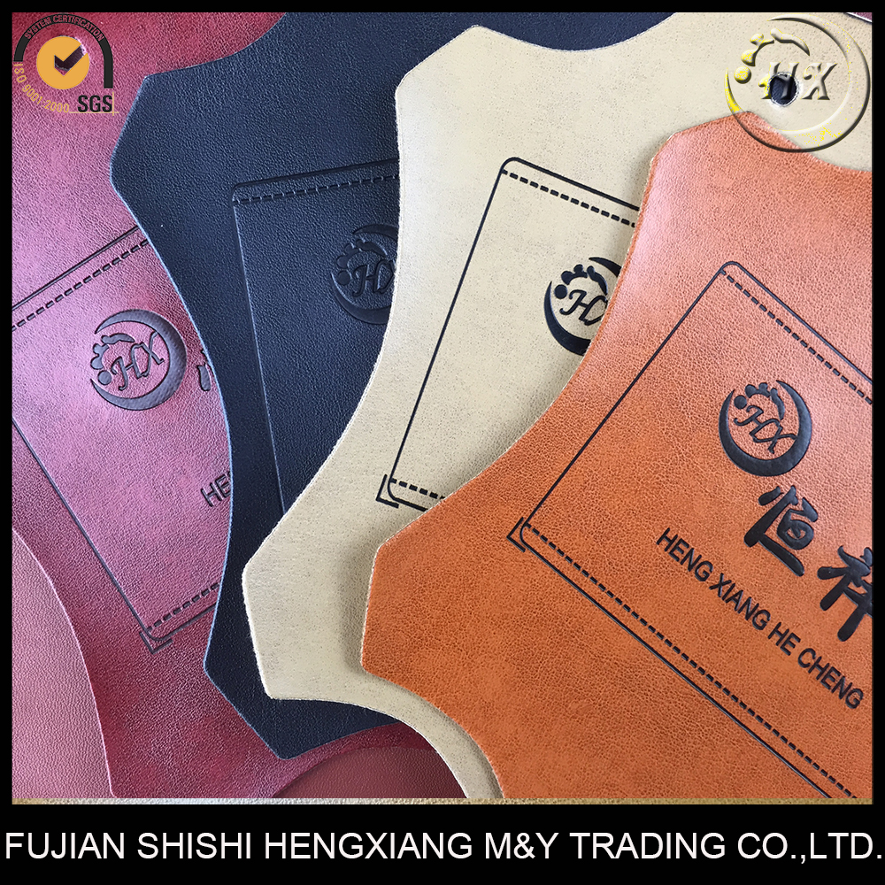 Press Change PU Synthetic Leather,Discolor Leather For Trademark,Business Label