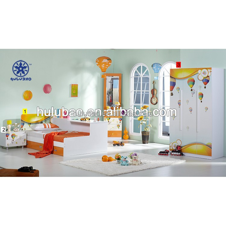 Space saving beds for kids Storage bed with wardrobe Home use #B207-023