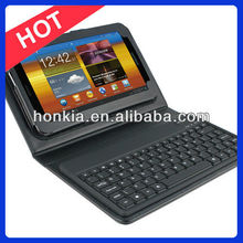 Factory Price Bluetooth Keyboard with Leather Case for Galaxy Tab 7.0inch P3100, 6200