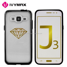 Crystal transparent clear pc cellphone case for samsung galaxy j3 mobile phone case