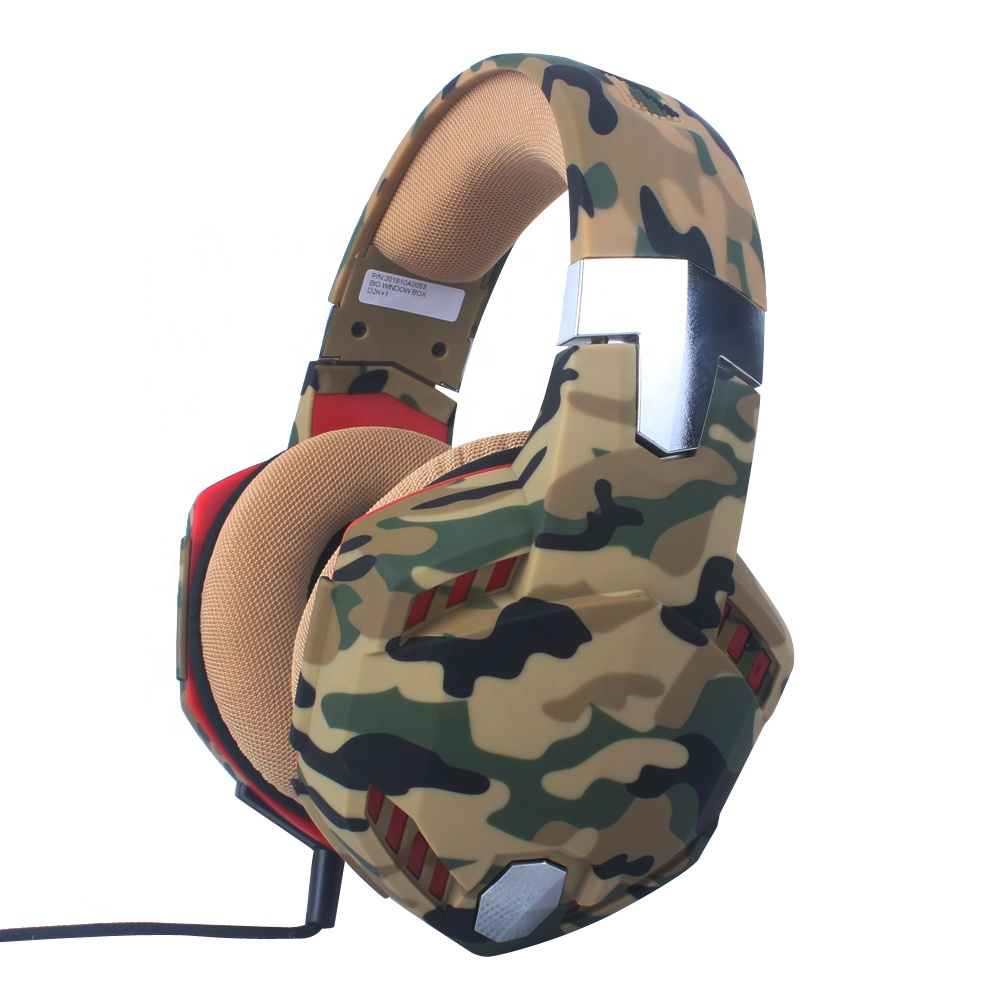 G2000 Camouflage Headphones Big Surround Comfortable Earmuff Stereo Gaming Headset for PS4, PC