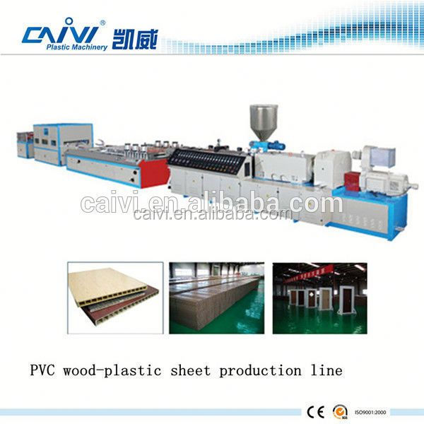 High Quality PVC WPC Board/Panel Production Line / PVC Wood Plastic Profile Extrusion Machine
