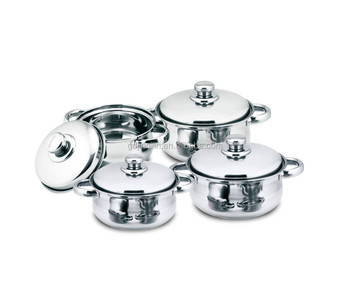 high quality heat resistant stainless steel first horse cookware set with eco friendly material