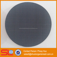 Hot sale 304 stainless steel round shape air filter wire mesh,woven wire mesh sintered filter screen