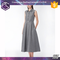 Daijun OEM white and grey plaid high quality long umbrella dress