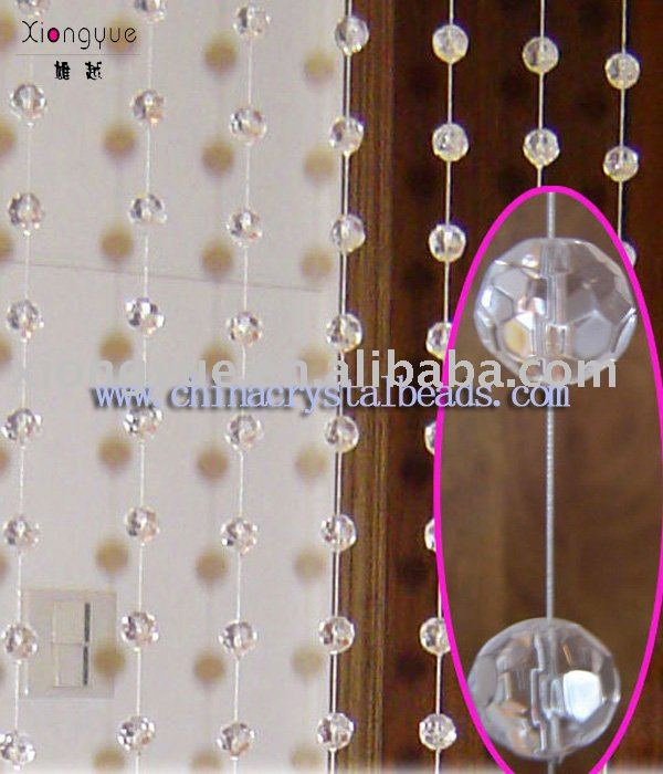Crystal glass beaded curtain for home decoration and hotel decoration