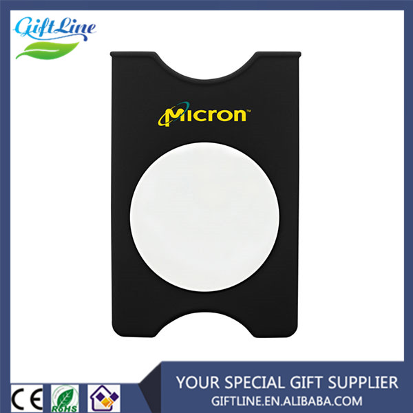 Promotional Mirror Accept Silicone Phone Card Wallet Holder