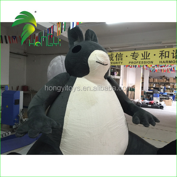 Attractive Interesting Funny Custom-made So Lifelike Giant Inflatable Plush Squirrel