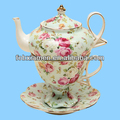 French elegant vintage ceramic wedding teapots and cups