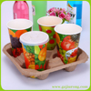 Disposable Paper Cup Drink Carrier/ Paper Tray From China