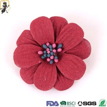 haoxie brand handmade making high quality ribbon rose decorative silk artificial flowers
