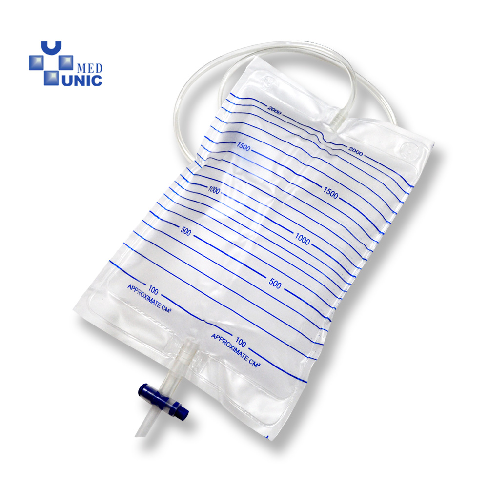 Disposable Adult Urine Collection Bag 2000ml Cross valve with CE/ISO approved