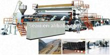 Extra Wide Geomembrane / Waterproof Sheet Machine, plastic sheet extrusion machine, PVC extruder machineChina famous brand.