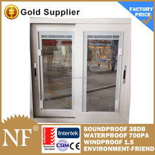 pvc profile sliding windows with fly screen