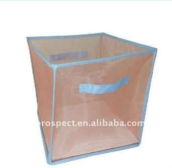 clear fabric cute nylon mesh foldable storage box