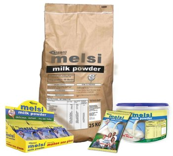 Melsi Milk Powder 25kg, 3kg, 500g