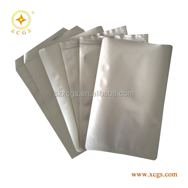 aluminum foil bag with zipper / plastic foil bag printed / heat sealed aluminum bag
