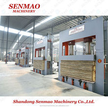 compressed laminated wood Q235 steel plate cold press machine