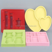 vacuum forming trays/plastic thermoformed trays/flocking packaging new design flocked jewelry packaging