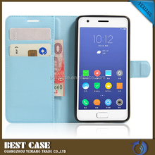 light blue PU letaher flip cover for htc desire 728 book case