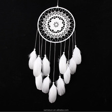 White Goose Feather Indian Dream Catcher