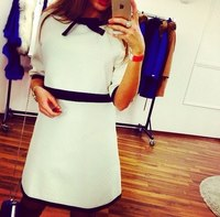 latest dress designs white loose causal ladies white women's dresses wholesale clothing ZC1852