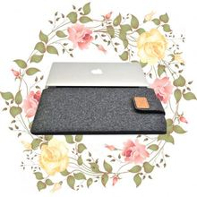 Luxury felt material flip cover tablet 8inch laptop bag case for macbook