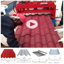 Plastic made in china used metal roof panel roll forming machine with high quality