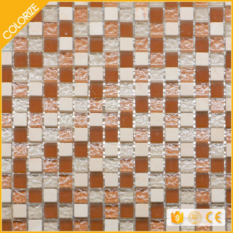 Customized Beautiful Style Glass And Stone Tile