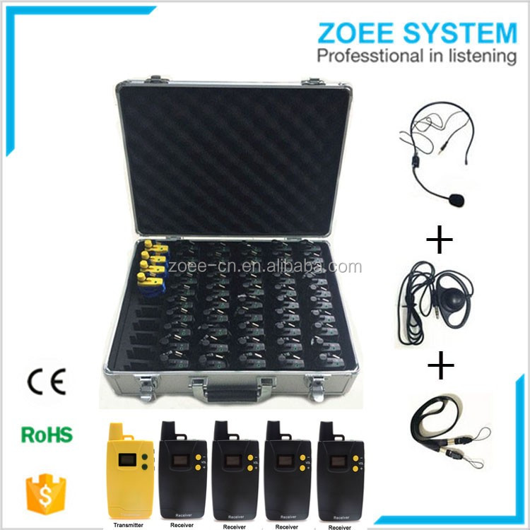 Direct buy China professional wireless uhf long range tour guide system