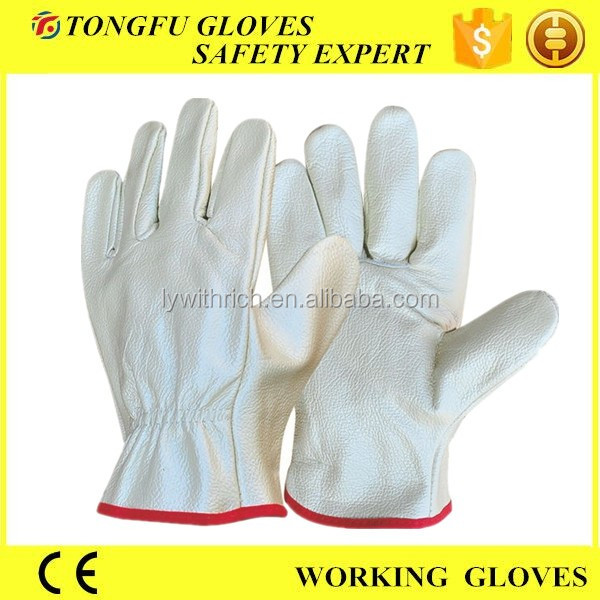 cheap funiture /pigskin/cow leather mens driving gloves without lining/full lining work gloves A grade