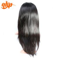 QHP Alibaba wholesale naturally straight human hair lace wig
