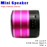 Portable laptop mini speaker USB Digital MP3 Player support HiFi U disk TF card LCD FM Radio LED light mini speaker