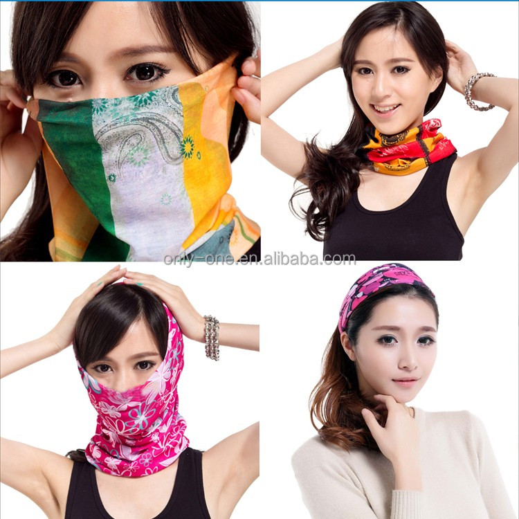 Colorful Polyester Fashionable Lady Scarf Hat Head Scarf