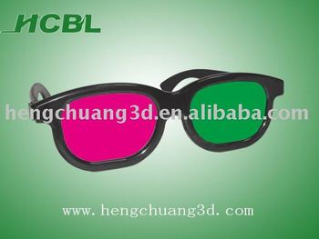 Factory Supply Anaglyphic 3D Glasses cheap 3d magenta green glasses