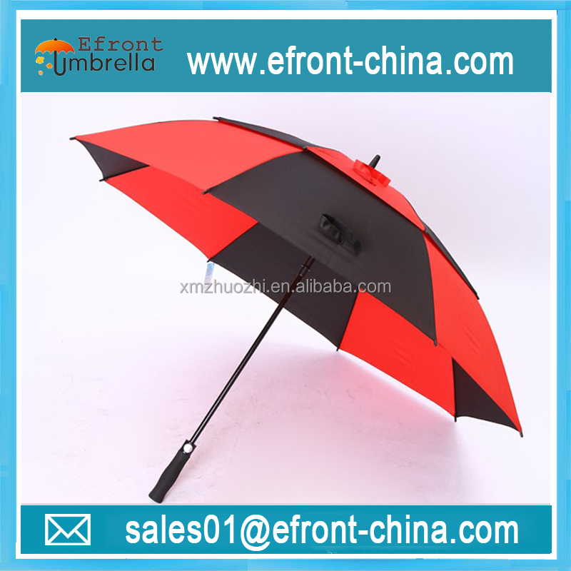 Brand car racing black and red color oversize two layer golf umbrella